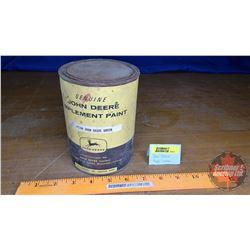 """Paint Can John Deere : Implement Paint - Green (Paper Label) 6""""H x 4""""Dia"""