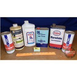 Petroliana Combo (6): Tumbler, Esso, Suzuki, OMC (Some Full) (See Pics)
