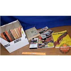 Box Lot: Gun Digest (3 Mags & 14 Digest Books) & 1 Remington VHS