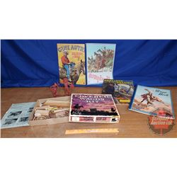 Covered Wagon Kit, Scrap Books, Native Toy Figures