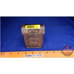 "Cast Iron US Mail Bank (3-1/2"" x 2-3/4"" x 1-3/4"")"