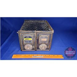 Antique Post Office Boxes (Bank of 2) Combination Front