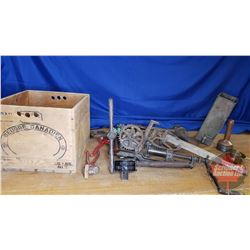 Wood Box Lot: Heavy Vintage Tools (Barn & Shop Items) (See Pics!)