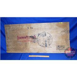 "Dominion Textile Co. Crate Lid (34-1/4"" x 16"")"