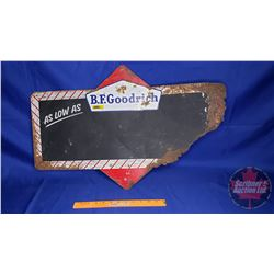 "B.F. Goodrich Chalkboard (Rust/Damaged) 18"" x 28"""