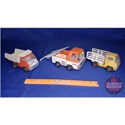 2 Marx Dump Trucks & 1 Buddy L Car Hauler