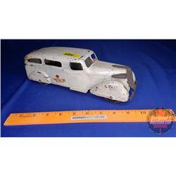 "Metal Toy Ambulance - Wyandotte (Wooden Wheels) (3-1/2""H x 11""L x 3-3/4""W)"