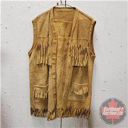 Leather Vest (Tasseled - Hand Made)