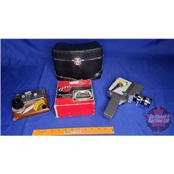 Holiday Reflex Zoom Marsfield Movie Camera (w/carry case) & Craig Film Splicer (in orig box)