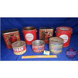 Confectionery Tins (7) Tea & Coffee & Jam (See Pics)