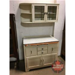 "2 Piece Kitchen Cupboard (Top 19""H x 42""W x 12""D) & (Bottom 34""H x 39""W x 22""D)"