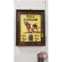 """""""Bull Durham"""" Framed Cardboard Advertisement (15-1/4""""H x 12-1/4""""W)"""