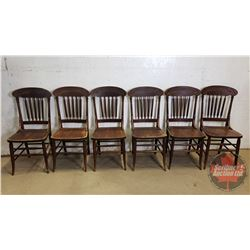 """6 Press Back Chairs (38""""H)"""