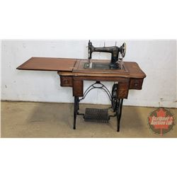 """Raymond Treadle Sewing Machine """"Made in Canada"""" S/N#168191 (Cabinet Size: 31""""H x 34""""W x 17-1/2""""D)"""