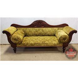 "Victorian Sofa - Green (Chenille) (38""H x 82""W x 24""D)"