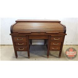 """Roll Top Bankers Desk (40""""H x 54""""W x 32""""D)"""