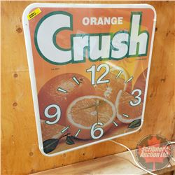 "Orange Crush Light Up Clock (23""H x 20""W x 5""D)"