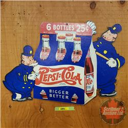 """Pepsi Store Mobile Ad """"Pepsi Pete"""" Double Dot : Double Sided Cardboard (14-3/4""""H x 21-1/2""""W)"""