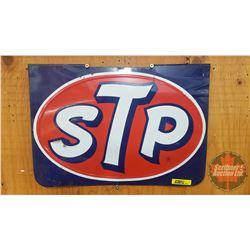 """STP Display Rack Top """"Sign"""" Embossed SST (11""""H x 15-1/2""""W)"""