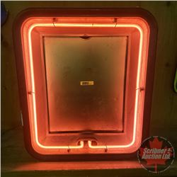 """Vintage Neon Sign Frame """"Neon Products Inc Lima Ohio"""" (19""""H x 16""""W x 7""""D)"""