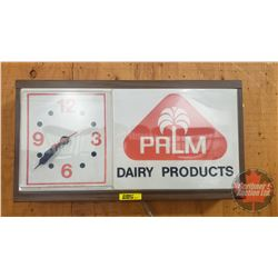 Palm Dairy Products Lighted Clock (clock works, doesn't light up)