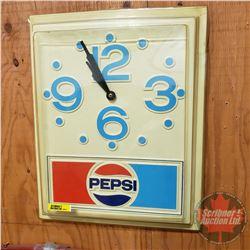 "Pepsi Clock - Battery Op (16""H x 13""W)"