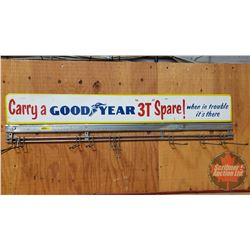 """""""Carry a Goodyear 3T Spare"""" Metal & Wire Rack (8""""H x 39""""W)"""