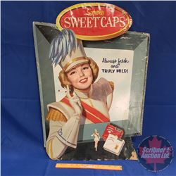 "Sweet Caporal Cardboard Cigarette Ad (30-1/2"" x 22"")"