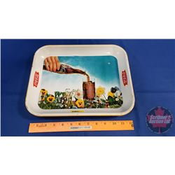 Coca-Cola Tray 1960's Pouring - Flowers