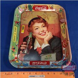 """Coca-Cola Tray 1958 10.5"""" x 13"""" -- Have a Coke -- Thirst Knows No Season"""
