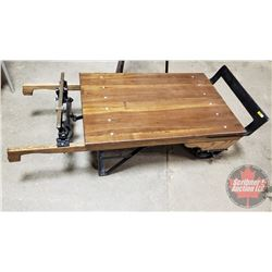 Renfrew Scale Co. 2000lb Capacity - Rolling Dock Scale - Coffee Table Conversion
