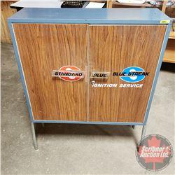 "Standard & Blue Streak Ignition Parts Shop Floor Cabinet (42""H x 32-1/2""W x 11""D)"