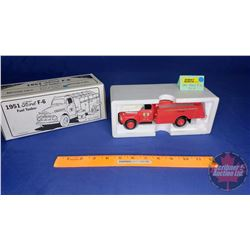 COIN BANK: 1951 Ford F-6 D-X Fuel Tanker