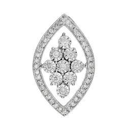 14k White Gold 0.35CTW Diamond Pendant, (I1-I2/G-H)