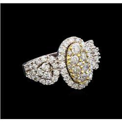 14KT White Gold 1.76 ctw Diamond Ring