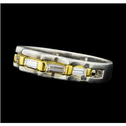 0.20 ctw Diamond Ring - Platinum and 18KT Yellow Gold
