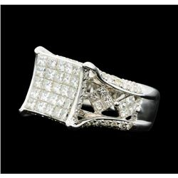 3.12 ctw Diamond Ring - 14KT White Gold