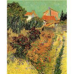 Van Gogh - Garden Behind A House