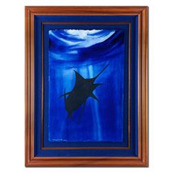 "Wyland, ""Marlin"" Hand Signed Original Painting with Certificate of Authenticity."
