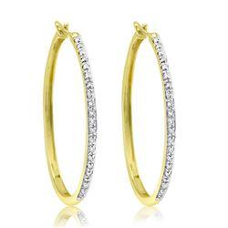 10k Yellow Gold 0.25CTW Diamond Earrings, (I)