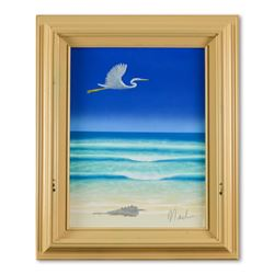 "Dan Mackin, ""Direct Flight"" Framed Original Oil Painting on Canvas Hand Signed w"