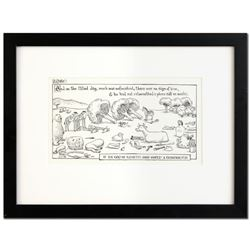"Bizarro! ""God's Contractor"" is a Framed Original Pen & Ink Drawing, by Dan Pirar"