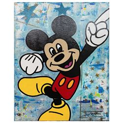 "Jozza, ""Mickey 1276"" Hand Signed Original Mixed Media on Canvas with COA."