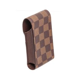 Louis Vuitton Damier Ebene Canvas Leather Cigarette Holder Case