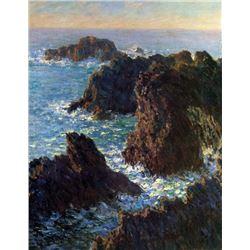 Claude Monet - Rocky Peaks at the Belle-Ile