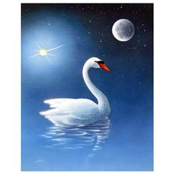 """Ken Shotwell, """"The Swan"""" Hand Signed Original Panting on Board with Certificate"""