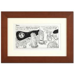 "Bizarro - ""Bill Gates"" is a Framed Original Pen & Ink Drawing by Dan Piraro, Han"