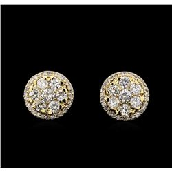 2.18 ctw Diamond Earrings - 14KT Yellow Gold