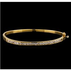 14KT Yellow Gold 1.21 ctw Diamond Bangle Bracelet