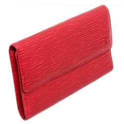 Louis Vuitton Red Epi Leather Porte Tresor International Wallet